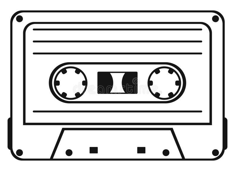 Cassete de banda magnética ilustração do vetor