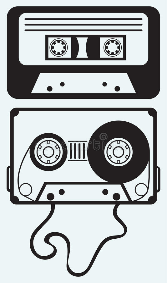 Cassete de banda magnética ilustração stock