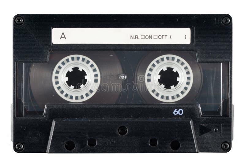 Cassete de banda magnética em branco retro imagem de stock