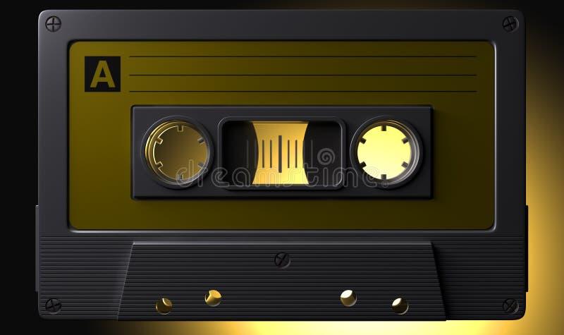 Cassete de banda magnética macro nostálgica ilustração royalty free