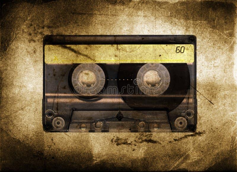 Cassete de banda magnética suja imagens de stock royalty free