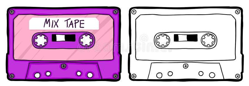 Cassete de banda magn?tica retro ilustração royalty free