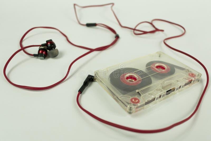 Cassete heart of headphones royalty free stock image