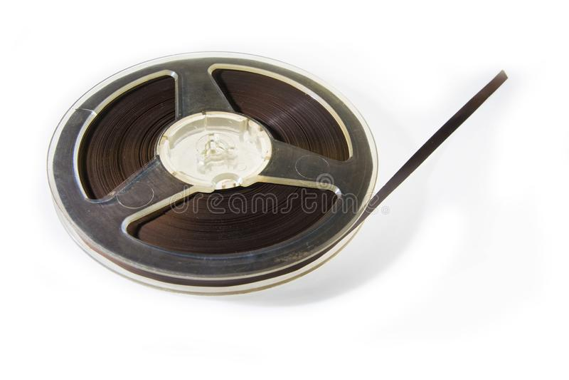 Cassetta audio magnetica d'annata immagine stock