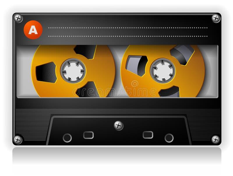 Cassetta compatta stereo di musica analogica audio illustrazione vettoriale