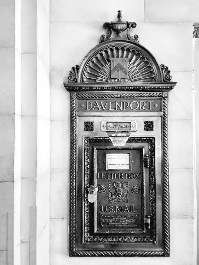 Cassetta delle lettere di Davenport fotografie stock