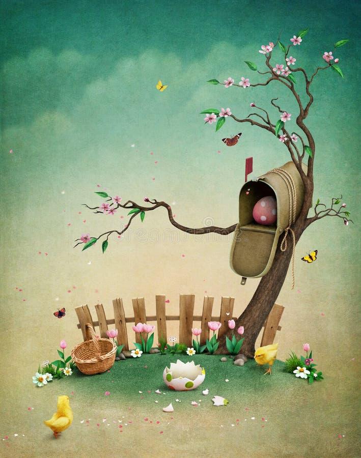 Cassetta delle lettere di Pasqua royalty illustrazione gratis