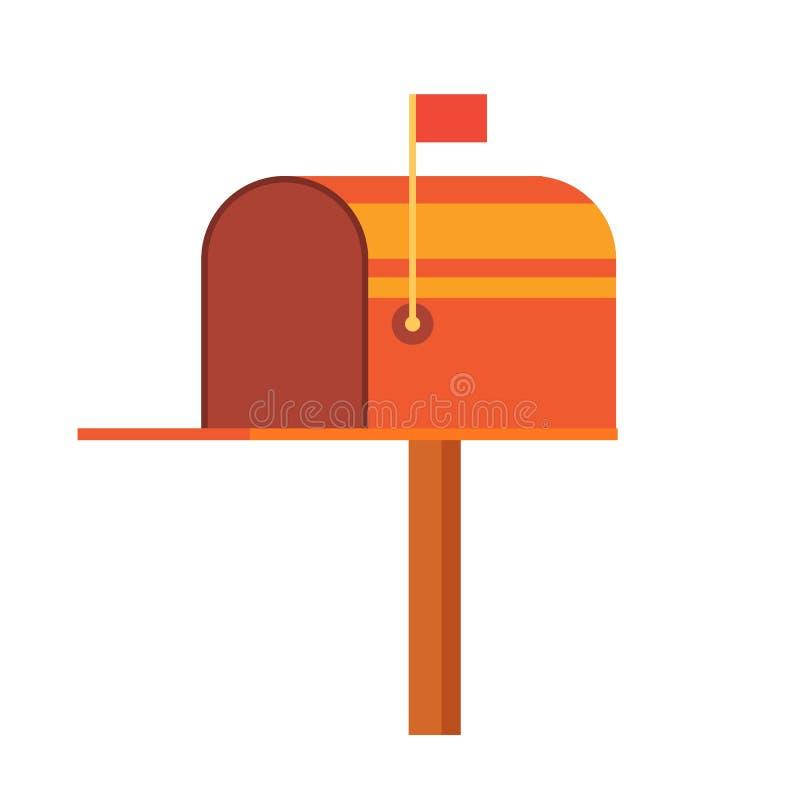 Cassetta delle lettere styed retro vinatge illustrazione di stock