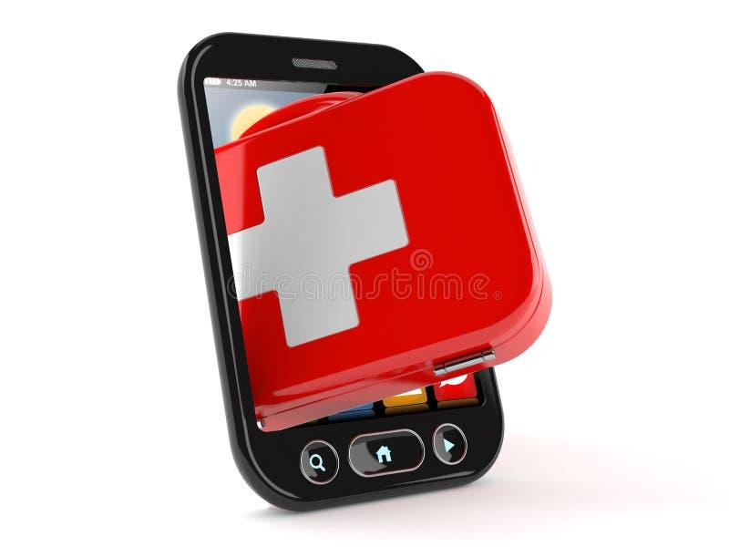 Cassetta di pronto soccorso dentro lo Smart Phone illustrazione vettoriale