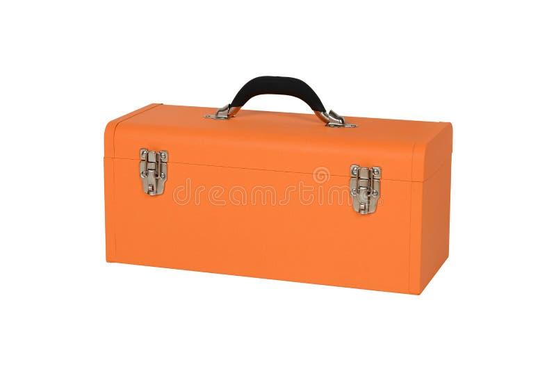 Cassetta portautensili arancio immagine stock libera da diritti