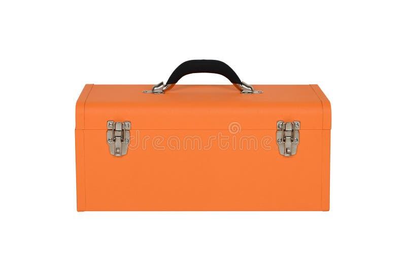 Cassetta portautensili arancio fotografia stock libera da diritti
