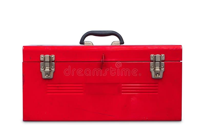 Cassetta portautensili rossa fotografia stock libera da diritti