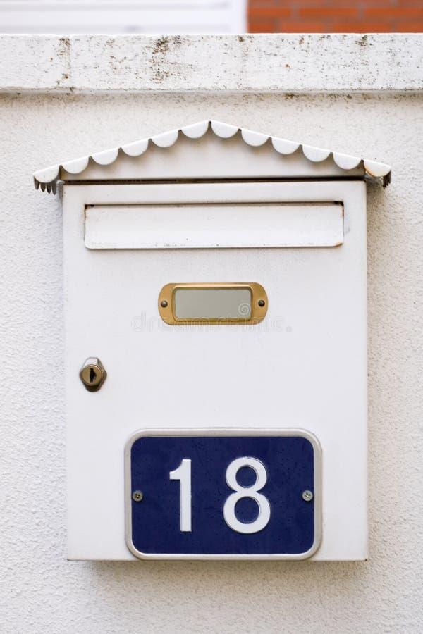 Cassetta postale fotografie stock