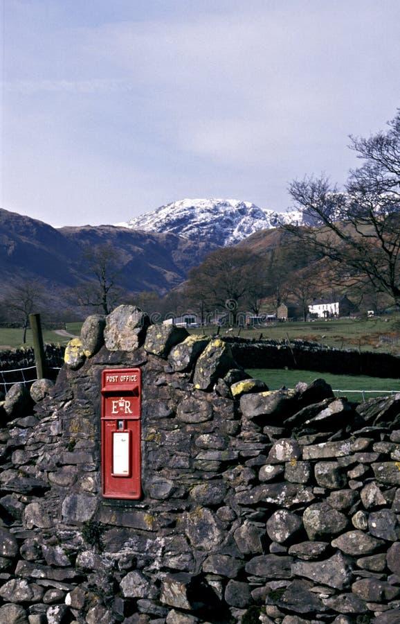 Cassetta postale in Patterdale, Cumbria. fotografia stock