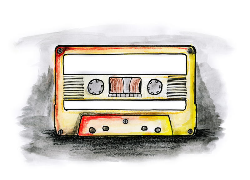 Download Cassette stock illustration. Image of sound, tape, white - 16930005