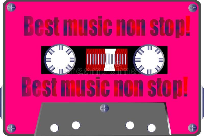 Download Cassette stock illustration. Image of listen, music, spool - 221323