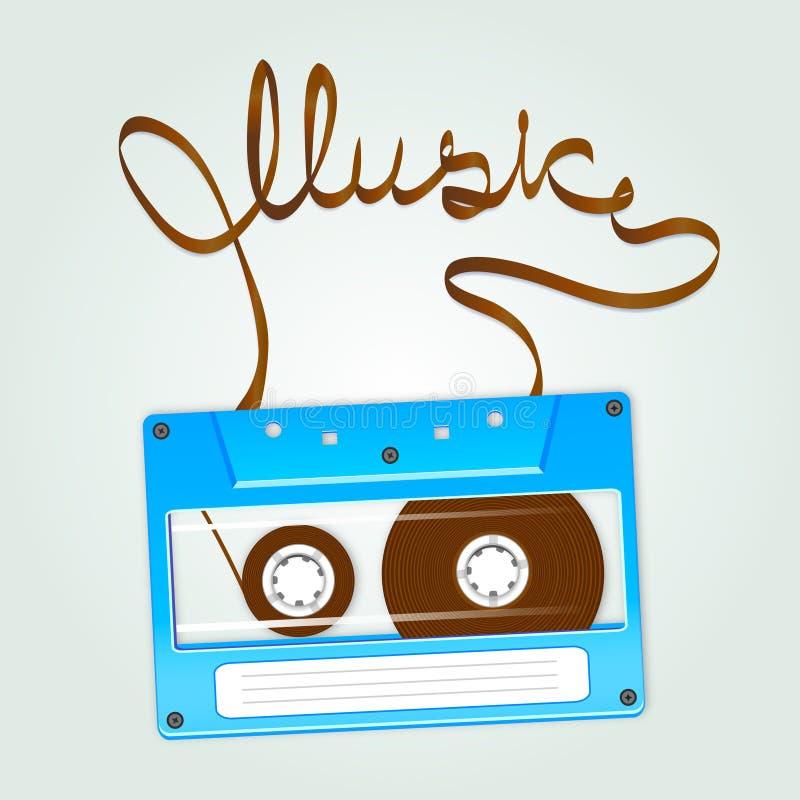 Cassette illustration stock