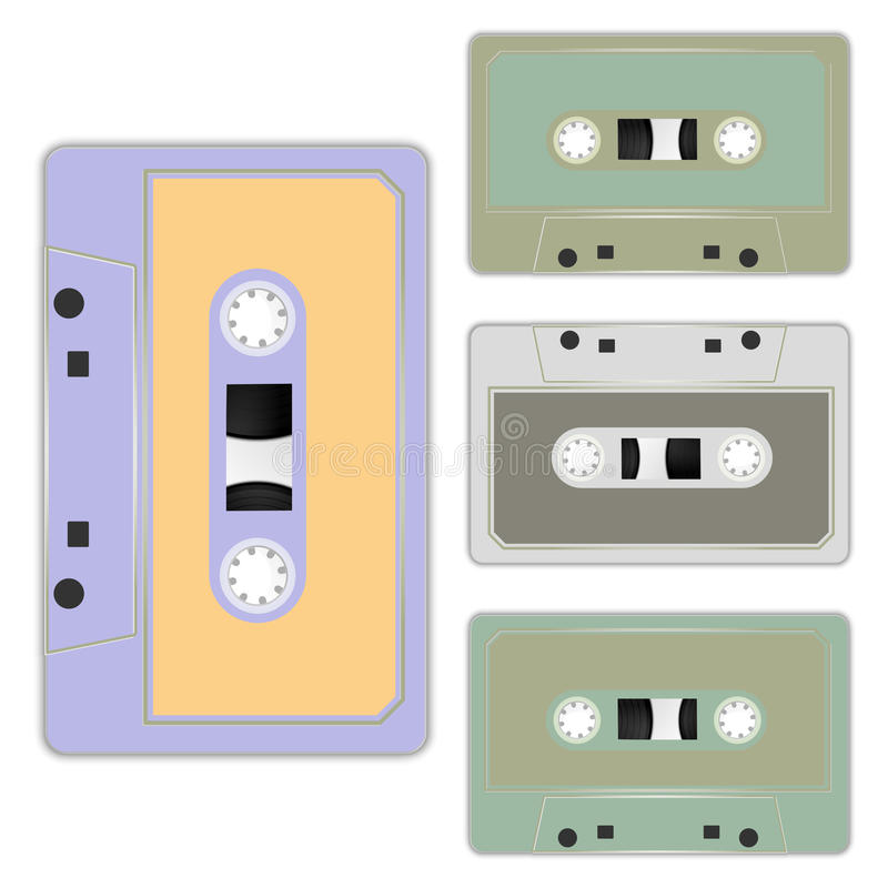 Cassette royalty-vrije illustratie