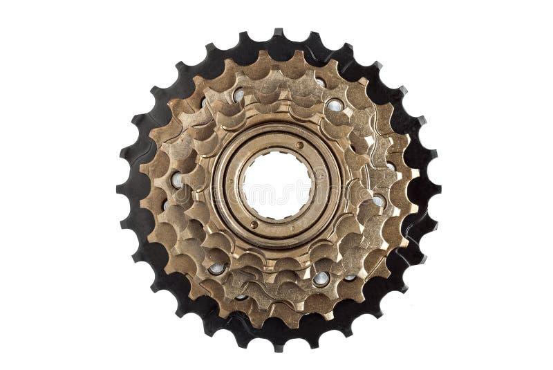 Cassette arrière de vélo, étoiles des vitesses images libres de droits