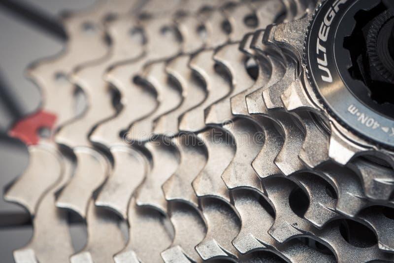 Cassette arrière de vélo photographie stock
