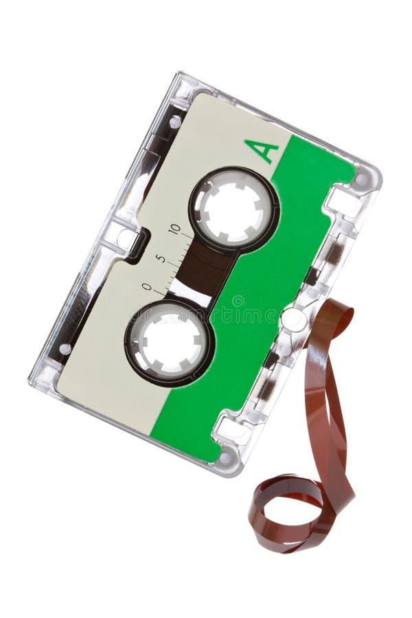 Cassette audio aislado en el fondo blanco fotos de archivo libres de regalías