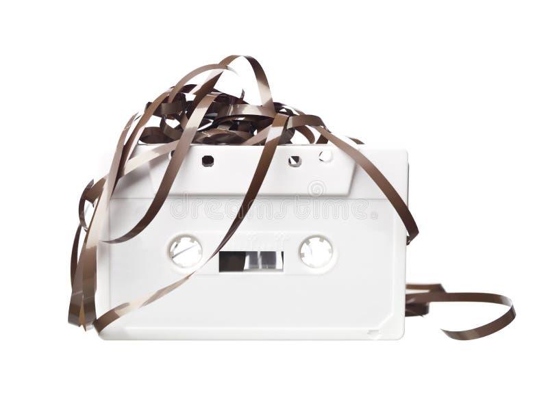 Cassette audio blanco foto de archivo