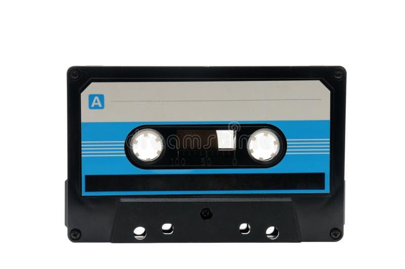 Cassette audio compatte per la registrazione magnetica su un fondo bianco Vassoio compatto fotografia stock libera da diritti