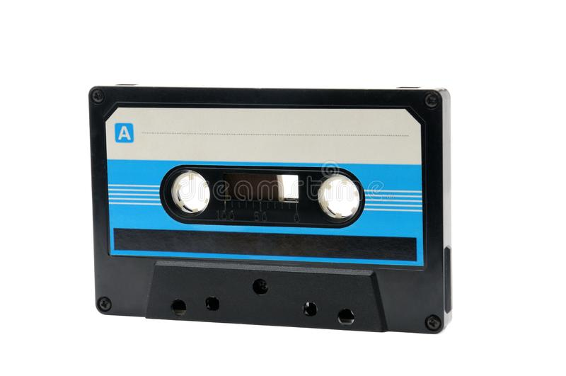Cassette audio compatte per la registrazione magnetica su un fondo bianco Vassoio compatto immagini stock libere da diritti