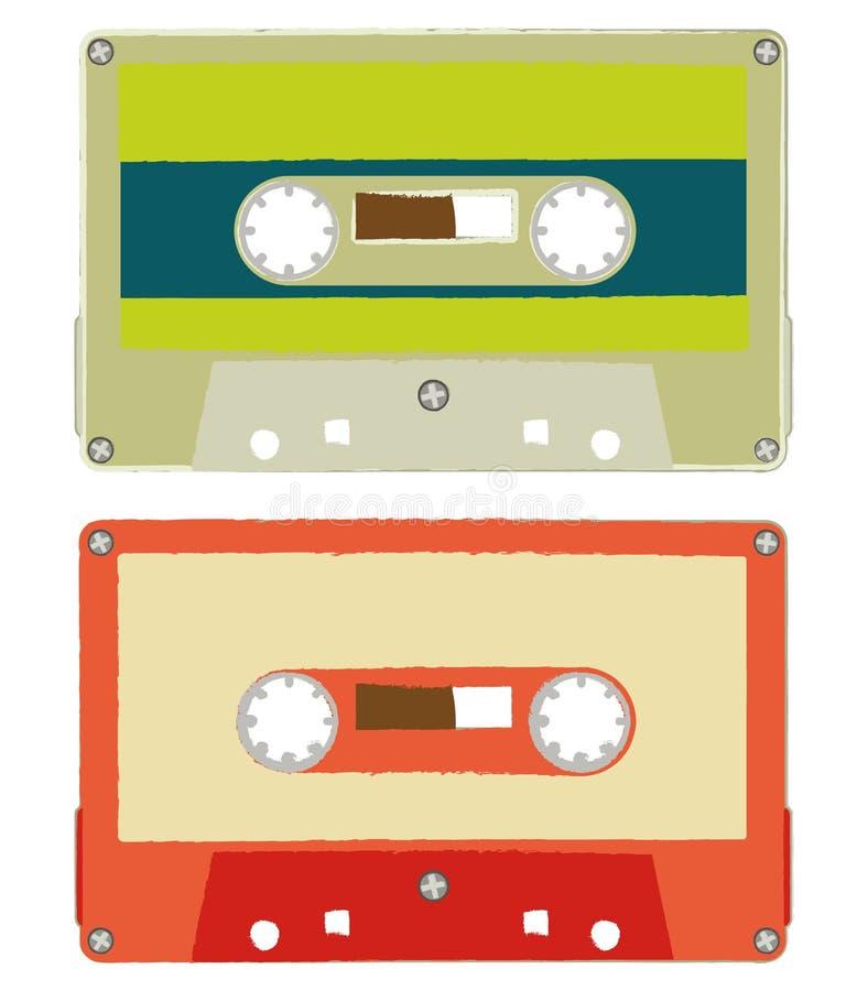 Cassette audio della spazzola illustrazione vettoriale