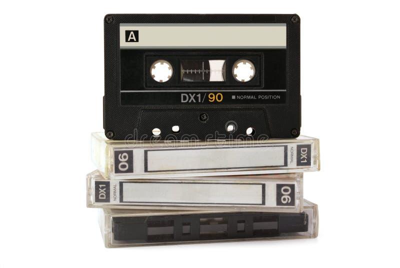 Cassette audio en tres rectángulos foto de archivo libre de regalías