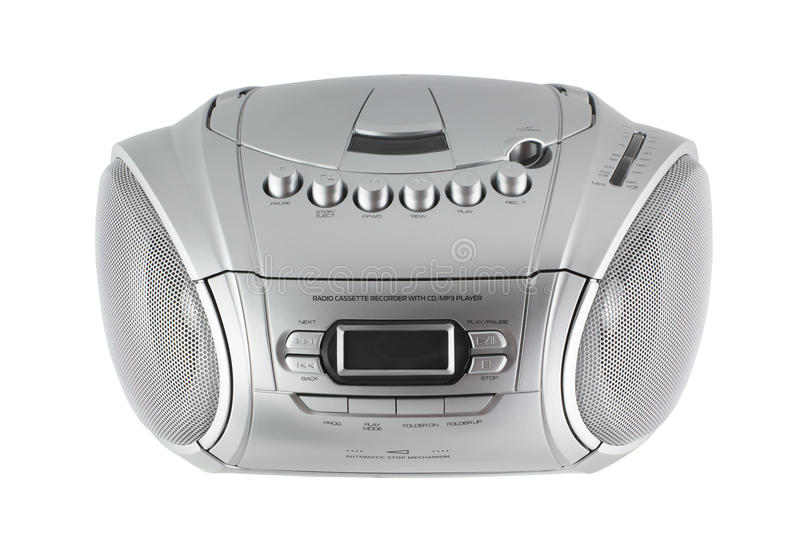 Cassette and CD player with radio royalty free stock photos