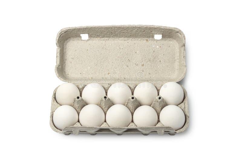 Cassette of eggs royalty free stock photo