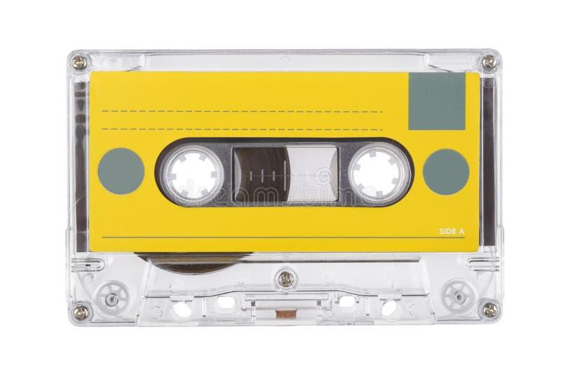 Cassette compacte de bande audio d'isolement photo stock
