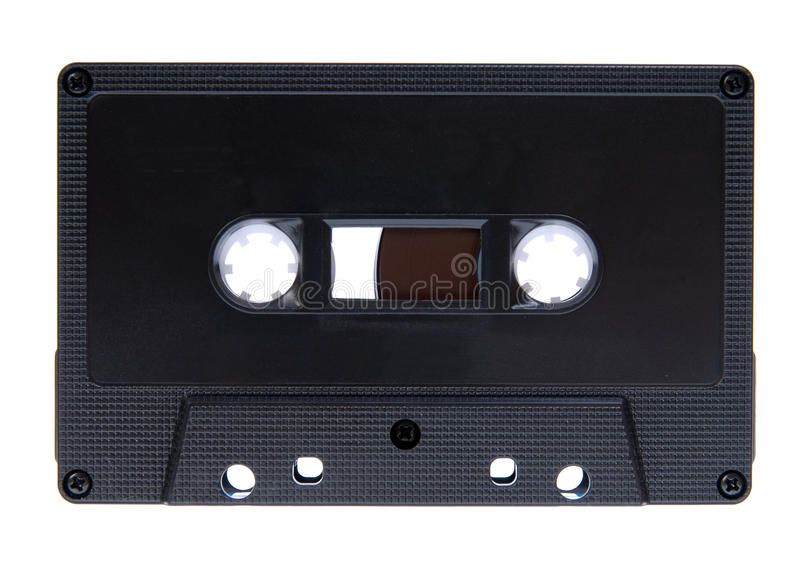 Cassette compacto aislado fotos de archivo