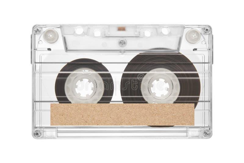 Cassette de bande avec l'étiquette photos libres de droits