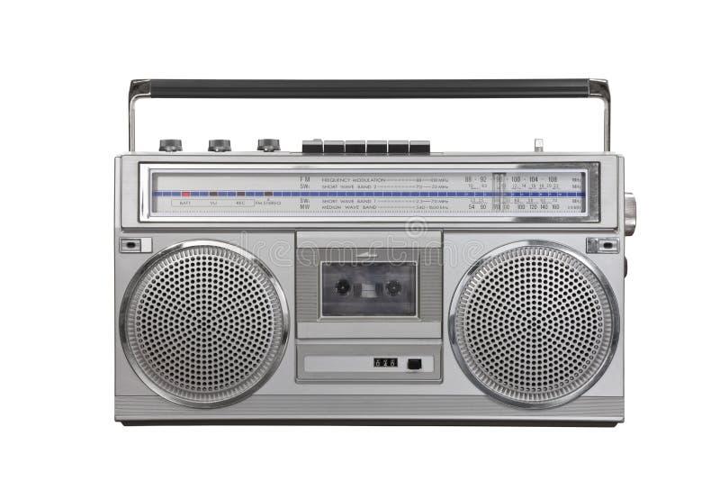 Cassette de radio portative de sableuse de ghetto de cru photographie stock libre de droits