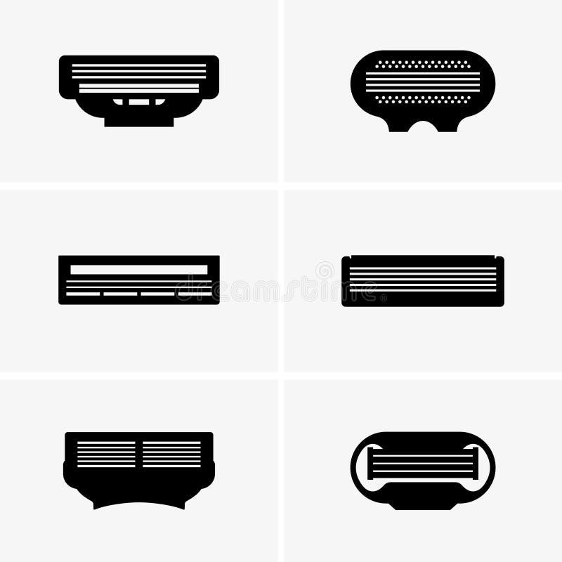 Cassette de rasoir illustration stock
