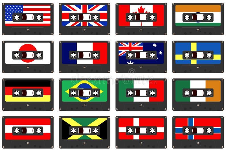 Cassette del paese royalty illustrazione gratis