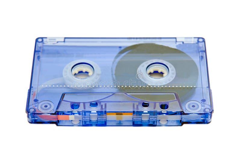 Cassette en el fondo blanco fotos de archivo