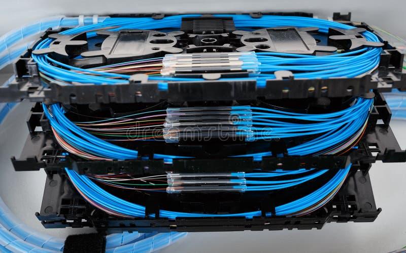 Cassette a fibra ottica della giuntura fotografia stock libera da diritti