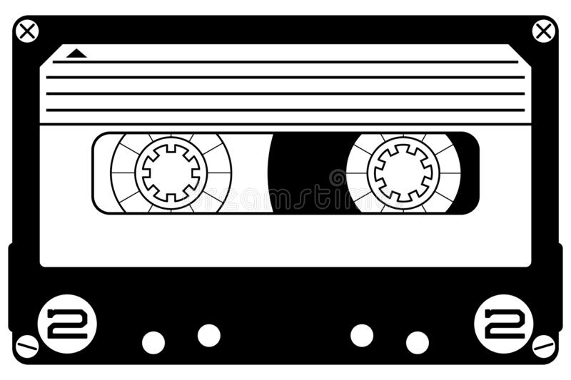 Cassette mixtape Hand drawn Crafteroks svg free, free svg file, eps, dxf, vector, logo, silhouette, icon, instant download, digita. Cassette mixtape, Hand drawn vector illustration