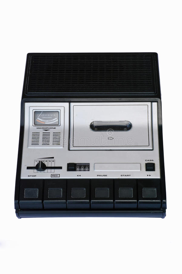 cassette old portable recorder scratchy στοκ εικόνες