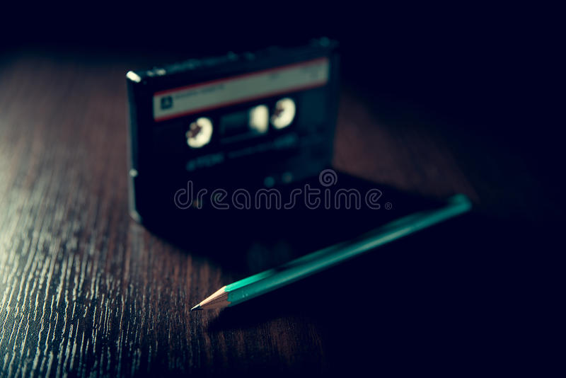 cassette old tape στοκ φωτογραφία
