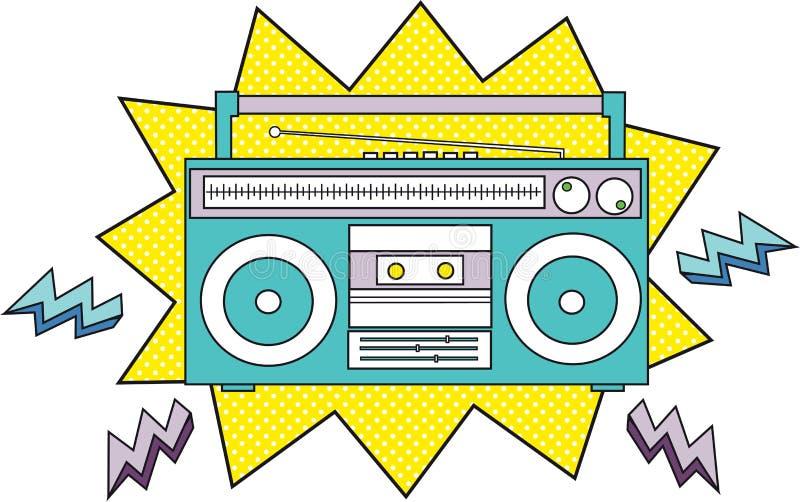 Cassette par radio illustration stock