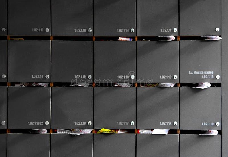 Cassette postali fotografie stock