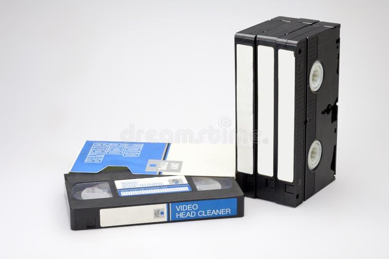 Cassette principal video del producto de limpieza de discos fotos de archivo libres de regalías