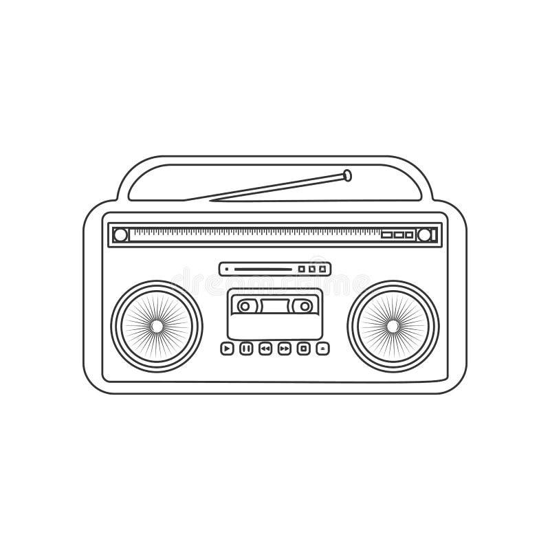 Retro Cassette Audio Player Icon  Elements In Multi Colored