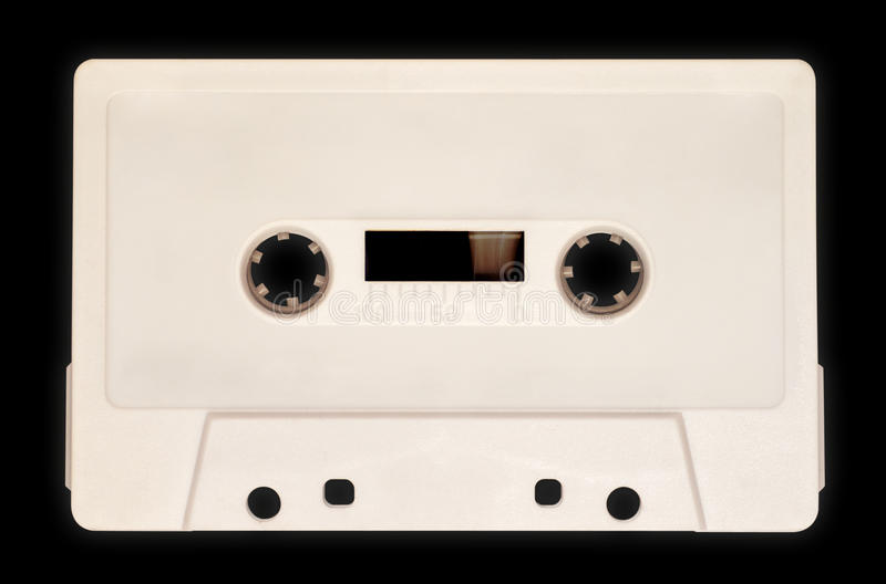 Cassette sonore, blanche photos stock