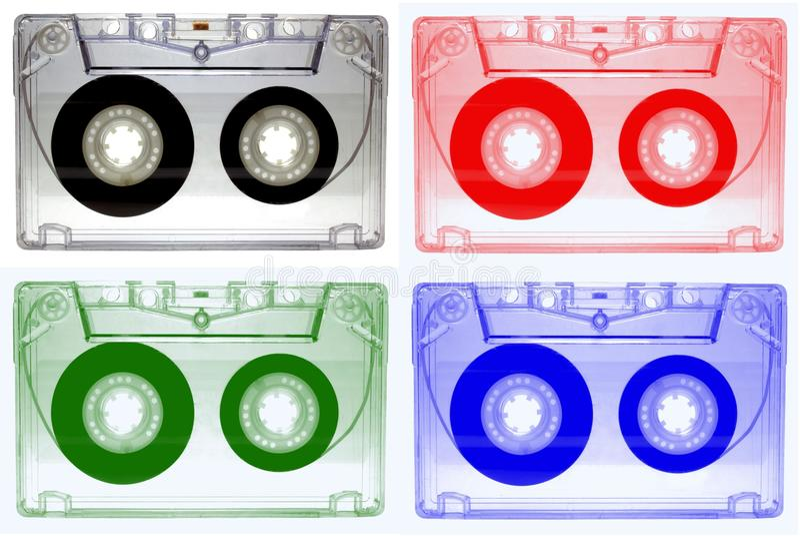 Cassette sonore enregistrant la bande saine images libres de droits