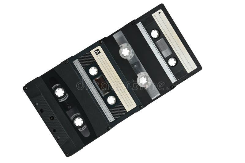Cassette sonore pour enregistrer des ann?es saines de 70s 90s image libre de droits